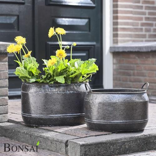 Cvetlični lonec Maison črne barve-
