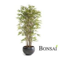 Umetni bambus Japonski gigant 210 cm v osnovni pvc posodi - okrasna posoda ni vključena v ceno