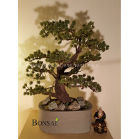 Umetni bonsai Pinija v glineni posodi handmade umjetni veštački bonsai