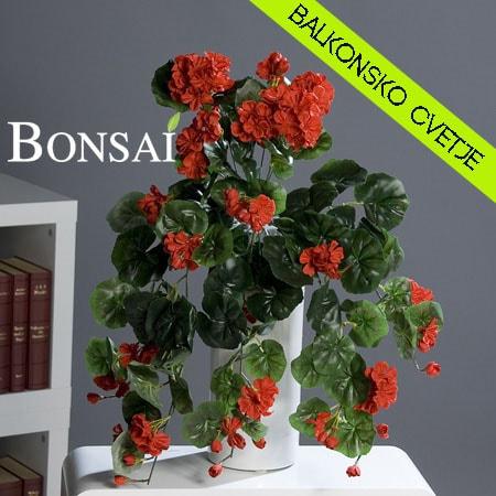 balkonsko cvetje rože za balkon umetne geranije