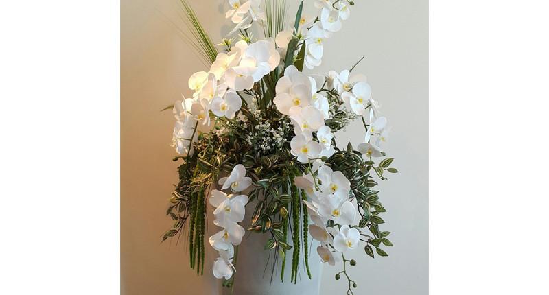 umetne orhideje ikebana aranžma dekoracija umjetno cvijeće