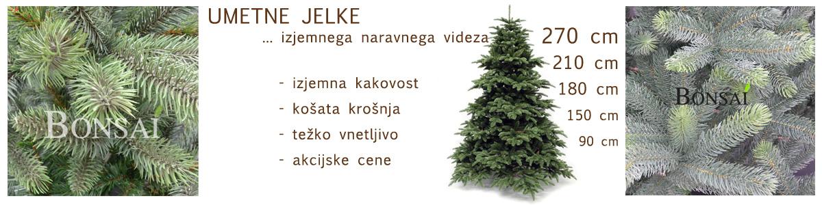 novoletne jelke umetne jelke božična drevesca Bonsai Ljubljana Trzin