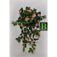 umetna plezalka umetna vrtnica roza 70cm